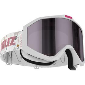 Bliz Liner Gafas Niños, white-black/pink-silver mirror